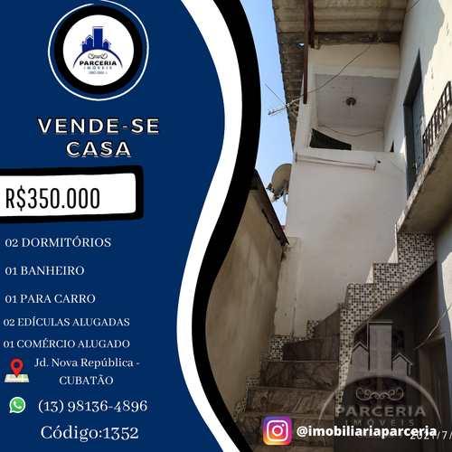Casa, código 1352 em Cubatão, bairro Jardim Nova República