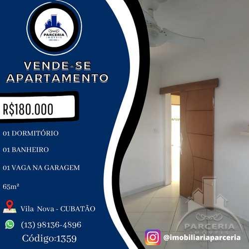 Apartamento, código 1359 em Cubatão, bairro Vila Nova