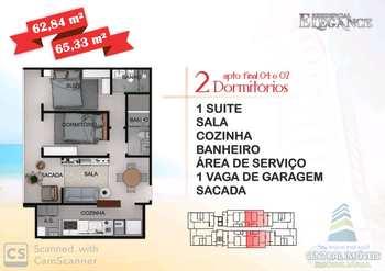 Apartamento, código 7263 em Praia Grande, bairro Aviação