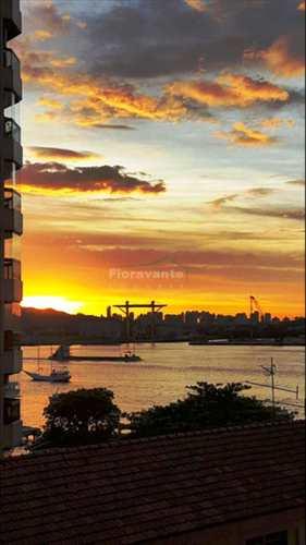 Flat, código 2456 em Santos, bairro Ponta da Praia