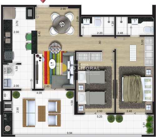 Apartamento, código 422847 em Mongaguá, bairro Centro
