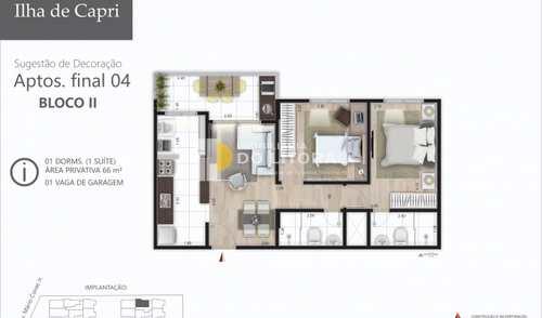 Apartamento, código 423394 em Mongaguá, bairro Jardim Praia Grande