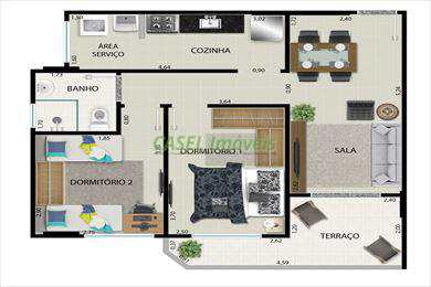Apartamento, código 803174 em Praia Grande, bairro Guilhermina
