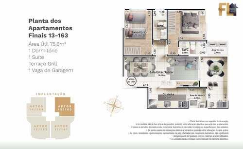Apartamento, código 45023 em Mongaguá, bairro Jardim Marina