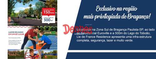 Terreno de Condomínio, código 381 em Bragança Paulista, bairro Ile de France Residence
