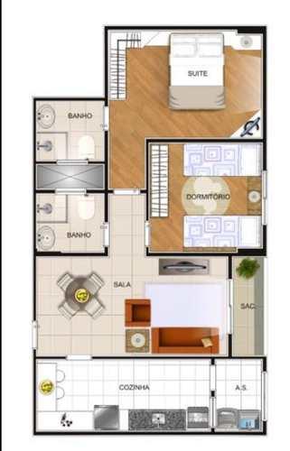 Apartamento, código 984 em Praia Grande, bairro Guilhermina