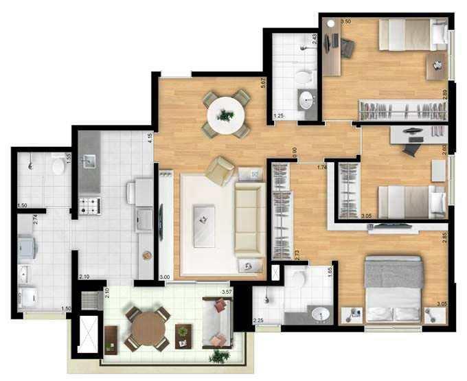 Apartamento em Barueri, no bairro Centro