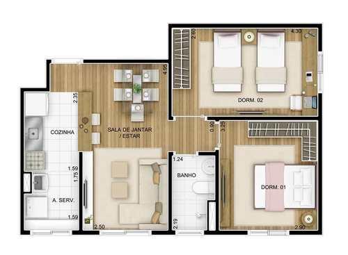 Apartamento, código 1110 em Barueri, bairro Vila São João