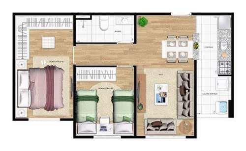Apartamento, código 1138 em Barueri, bairro Jardim Belval