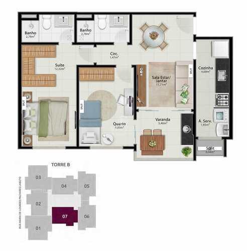 Apartamento, código 493 em Vitória, bairro Jardim da Penha