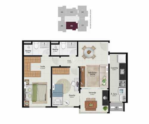 Apartamento, código 494 em Vitória, bairro Jardim da Penha