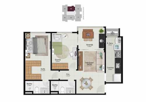 Apartamento, código 496 em Vitória, bairro Jardim da Penha