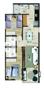 Apartamento, código 657 em Vitória, bairro Praia do Canto