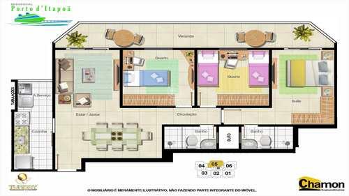 Apartamento, código 374 em Vila Velha, bairro Itapuã