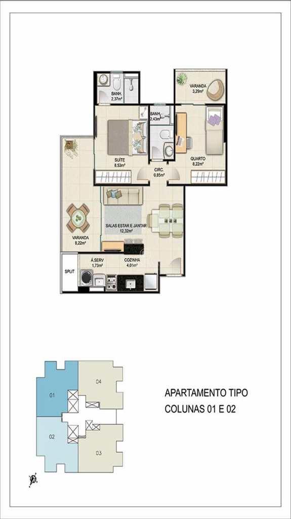 Apartamento em Vitória, no bairro Santa Cecília