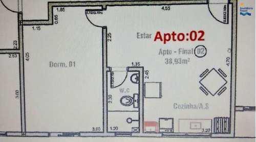 Apartamento, código AP1277 em Ubatuba, bairro Perequê Açu
