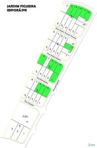 Terreno, código 331 em Ibiporã, bairro Jardim Figueira