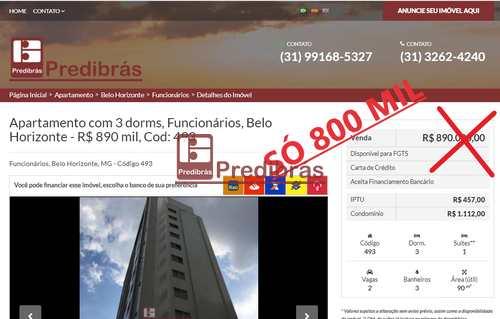 Apartamento, código 493 em Belo Horizonte, bairro Funcionários