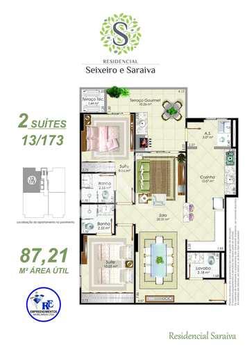 Apartamento, código 4370 em Praia Grande, bairro Aviação