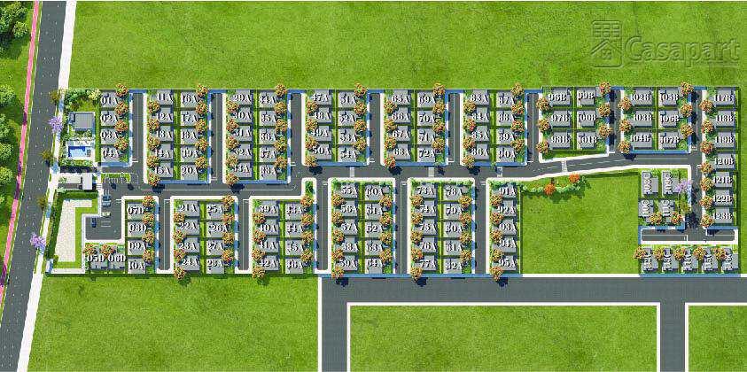 Casa de Condomínio em Campo Grande, no bairro Jardim Tijuca