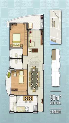 Apartamento, código 416 em Praia Grande, bairro Canto do Forte