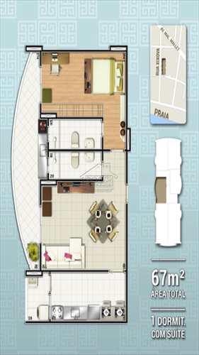 Apartamento, código 415 em Praia Grande, bairro Canto do Forte