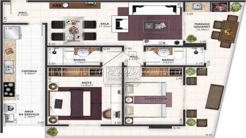 Apartamento, código 410 em Praia Grande, bairro Guilhermina