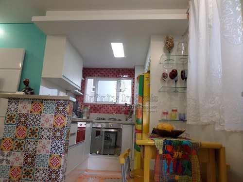 Apartamento, código 588 em Santos, bairro Gonzaga