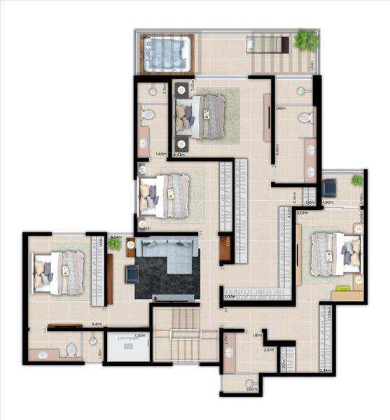 Apartamento em Bonfim Paulista, no bairro Bonfim Paulista