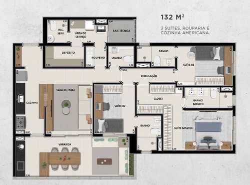 Apartamento, código 1722602 em Ribeirão Preto, bairro Jardim Botânico