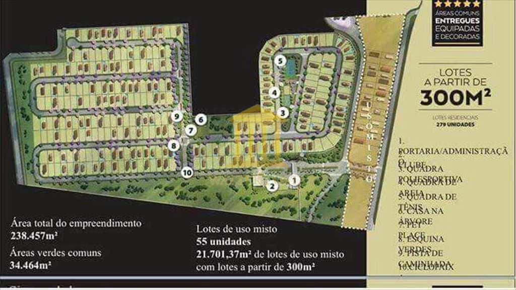 Terreno de Condomínio em Paulínia, no bairro Parque Brasil 500