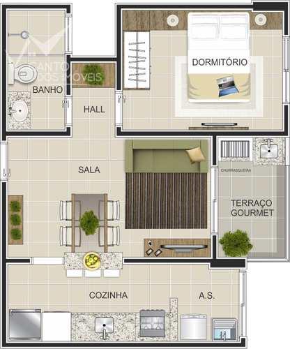 Apartamento, código 612 em Praia Grande, bairro Canto do Forte