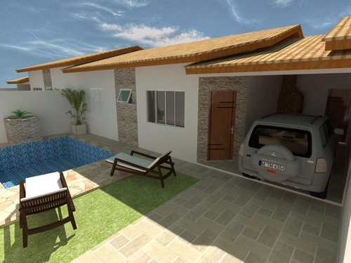Casa, código 110 em Itanhaém, bairro Cibratel II