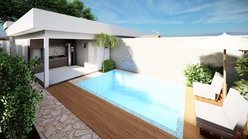 Casa, código 498 em Itanhaém, bairro Balneário Tupy