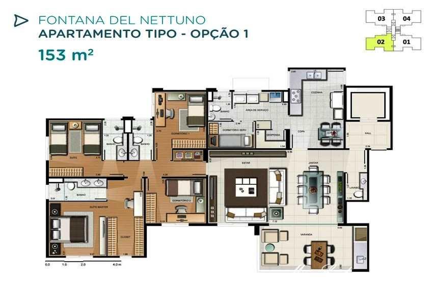 Apartamento em Campinas, no bairro Ao Lado do Galleria Shopping
