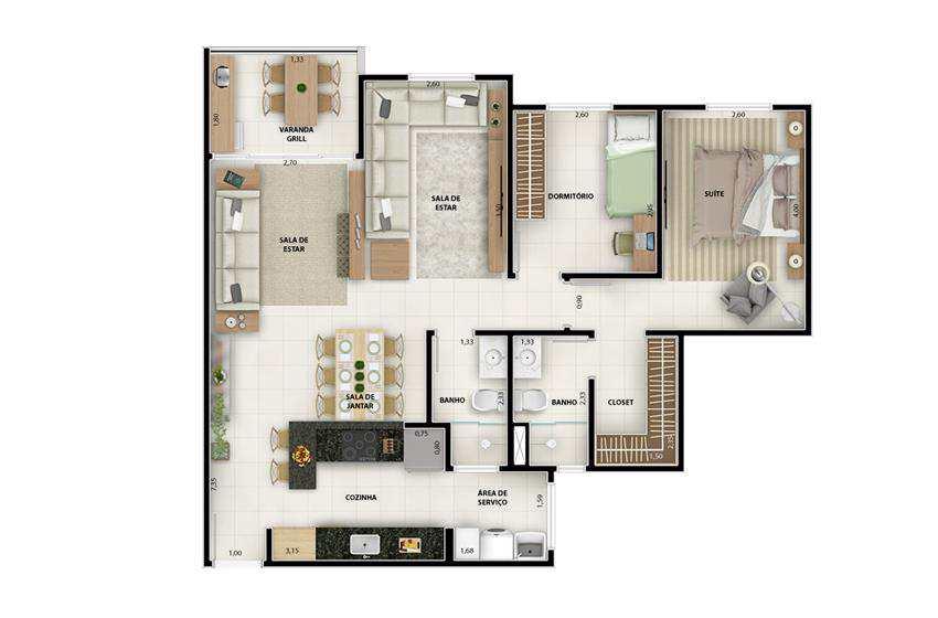 Apartamento em Vinhedo, no bairro Altos do Morumbi