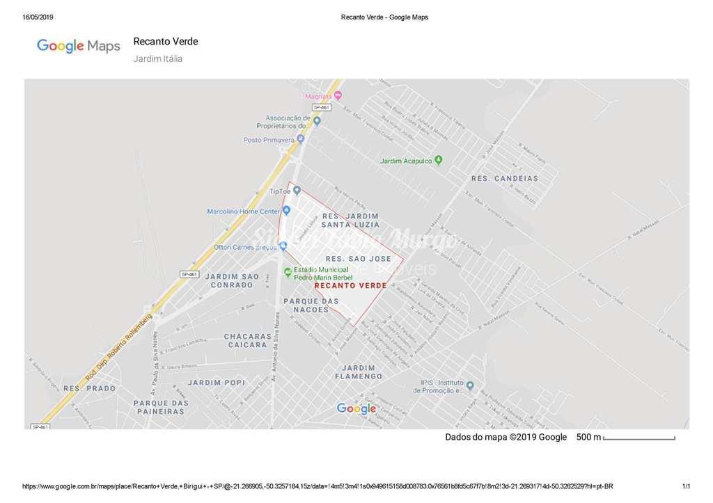 Loteamento em Birigui, no bairro Recanto Verde