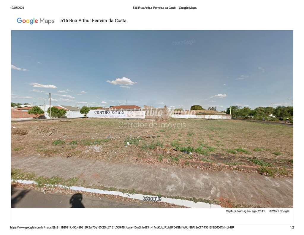 Terreno em Araçatuba, no bairro Aviação