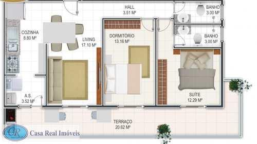 Apartamento, código 26 em Praia Grande, bairro Guilhermina