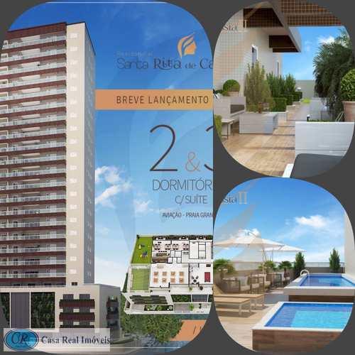Apartamento, código 594 em Praia Grande, bairro Aviação