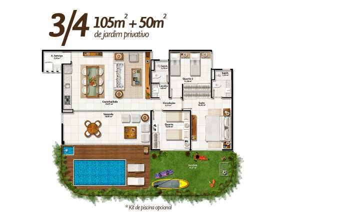 Apartamento em Mata de São João, bairro Imbassaí