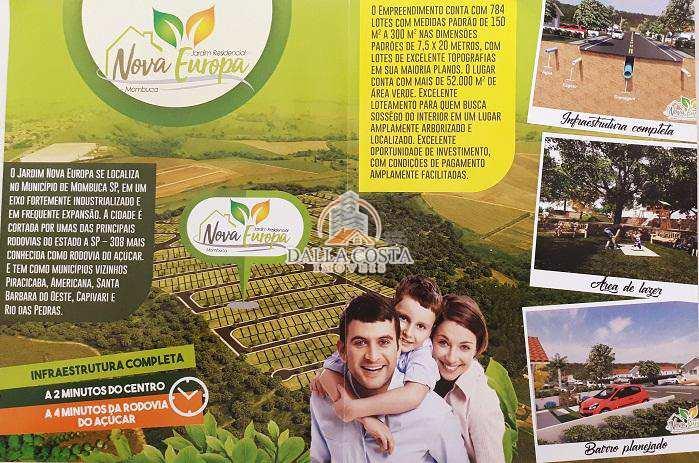 Terreno em Mombuca, no bairro Jd. Residencial Nova Europa