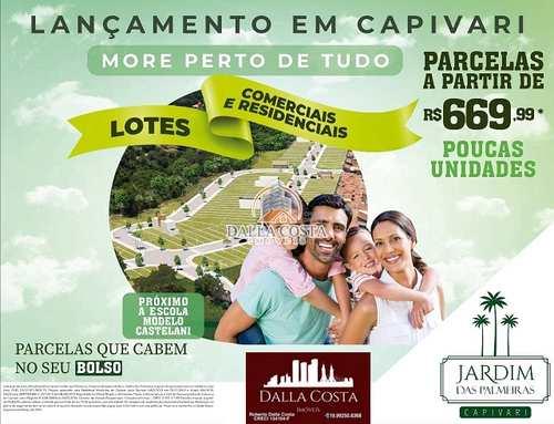Terreno, código 72 em Capivari, bairro Jardim das Palmeiras