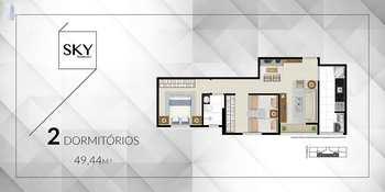 Apartamento, código 5 em São Vicente, bairro Vila Cascatinha