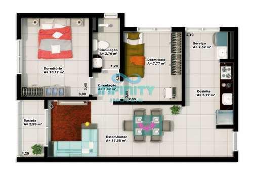 Apartamento, código 33 em Gravataí, bairro Monte Belo