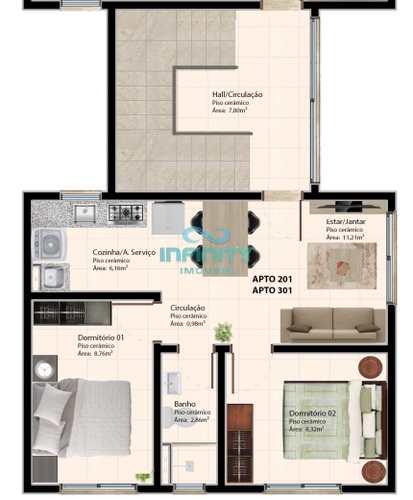 Apartamento, código 1050 em Gravataí, bairro Morada do Vale I