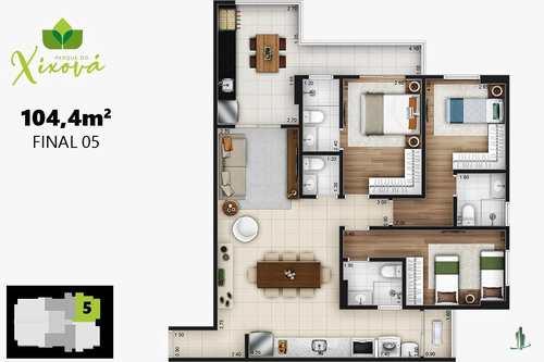 Apartamento, código 1412 em Praia Grande, bairro Canto do Forte