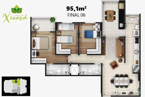 Apartamento, código 1413 em Praia Grande, bairro Canto do Forte