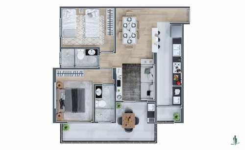 Apartamento, código 1655 em Praia Grande, bairro Mirim