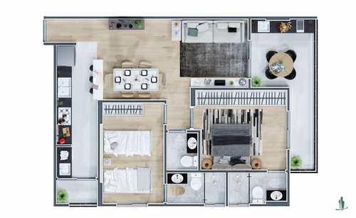 Apartamento, código 1660 em Praia Grande, bairro Mirim
